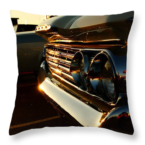 Classic Car Throw Pillow featuring the photograph 1960's Mercury by Cale Best