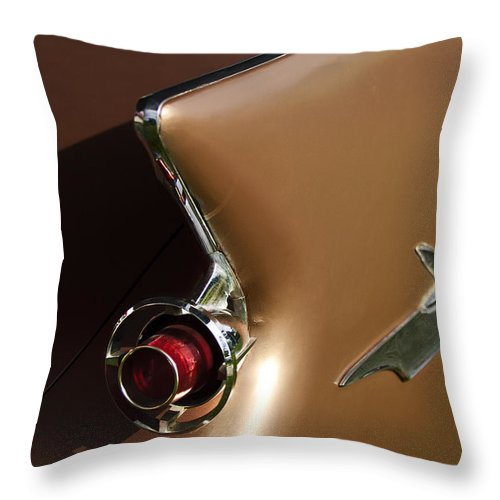 1961 Chrysler Imperial Throw Pillow featuring the photograph 1961 Chrysler Imperial Taillight by Jill Reger