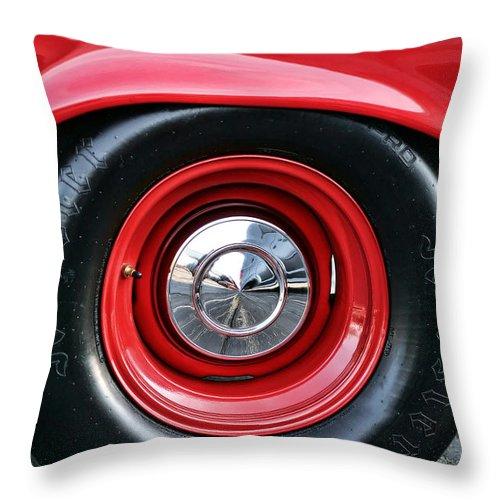 1964 Throw Pillow featuring the photograph 1964 Plymouth Savoy by Gordon Dean II