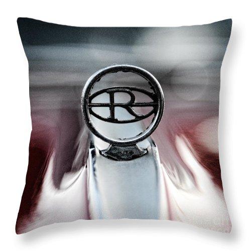1965 Buick Riveria Hood Emblem Throw Pillow featuring the photograph 1965 Buick Riveria Hood Emblem by Paul Ward