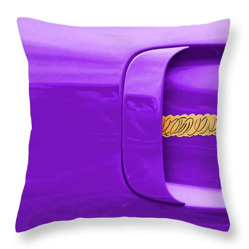 1970 Throw Pillow featuring the photograph 1970 Plum Crazy Plymouth Road Runner by Gordon Dean II