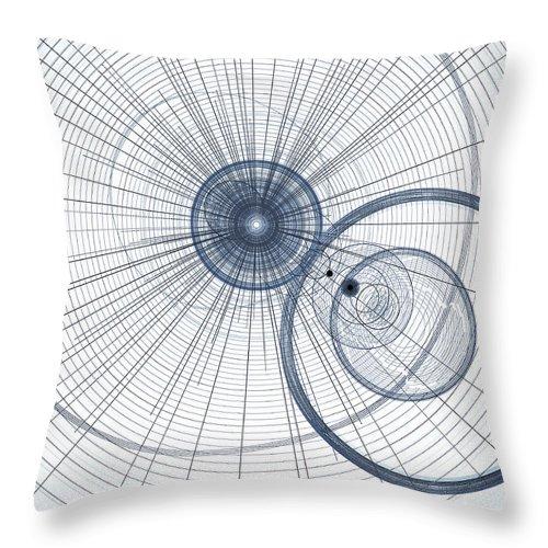 Art Throw Pillow featuring the digital art Abstract Circle Art by David Pyatt