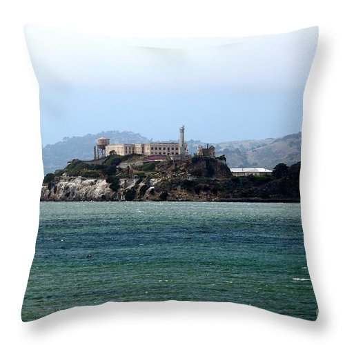 San Throw Pillow featuring the photograph Alcatraz by Henrik Lehnerer