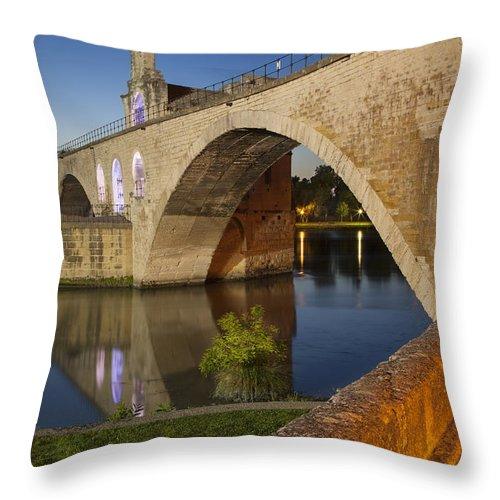 Arch Throw Pillow featuring the photograph Avignon Bridge by Brian Jannsen