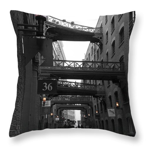 Butlers Wharf Throw Pillow featuring the photograph Butlers Wharf London by David French