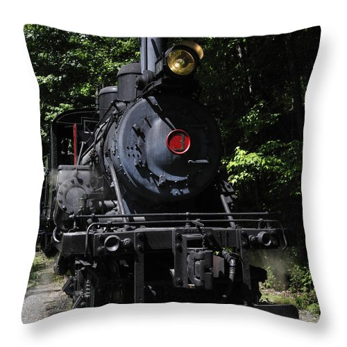 Durbin Rocket Throw Pillow featuring the photograph Climax Geared Locomotive by Thomas R Fletcher