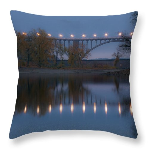 Bridge Throw Pillow featuring the photograph Ford Parkway Bridge by Tom Gort