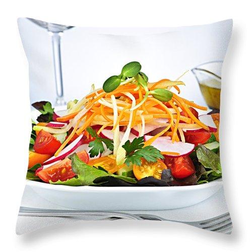 Garden Throw Pillow featuring the photograph Garden Salad by Elena Elisseeva