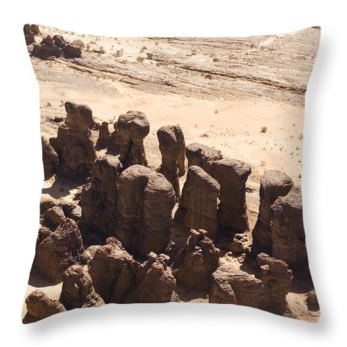 Landscape Throw Pillow featuring the photograph Giant Sandstone Outcroppings Deep by Michael Fay