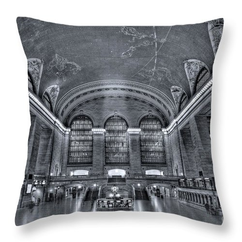 Grand Central Station Throw Pillow featuring the photograph Grand Central Station by Susan Candelario