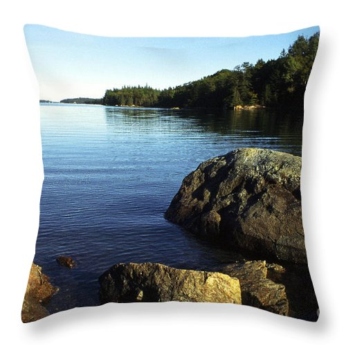 Deer Isle Throw Pillow featuring the photograph Greenlaw Cove Deer Isle Maine by Thomas R Fletcher