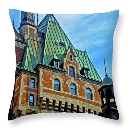 North America Throw Pillow featuring the photograph Le Chateau ... by Juergen Weiss