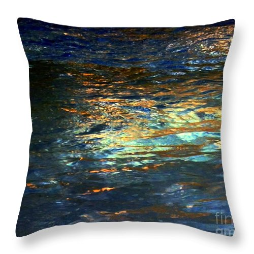 Water Throw Pillow featuring the digital art Light On Water by Dale  Ford