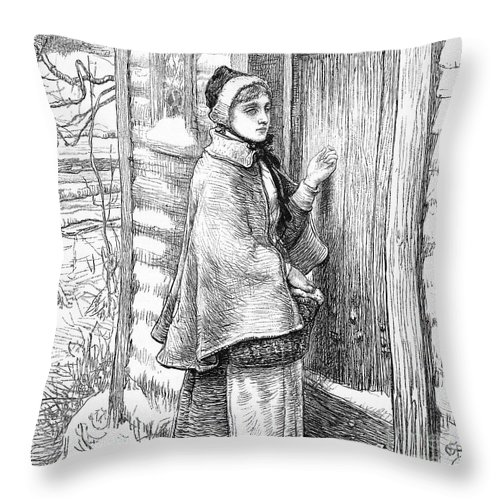 17th Century Throw Pillow featuring the photograph Longfellow: Standish by Granger