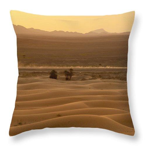 Car Throw Pillow featuring the photograph Merzouga, Morocco by Axiom Photographic