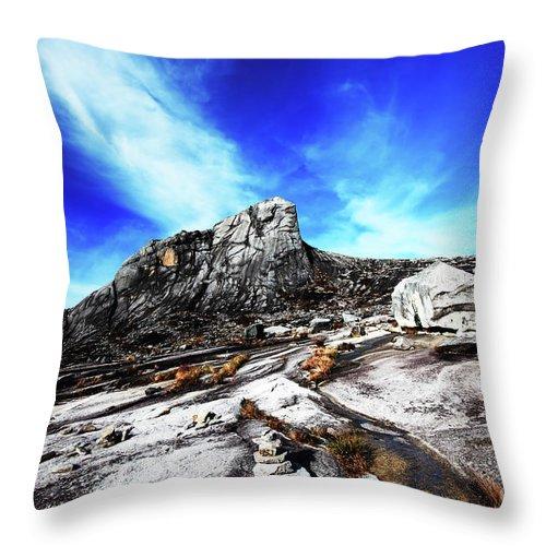 Peak Throw Pillow featuring the photograph Mount Kinabalu by MotHaiBaPhoto Prints