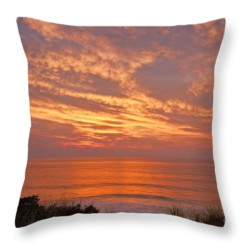 Cape Cod Throw Pillow featuring the photograph Ocean Sunrise by John Greim
