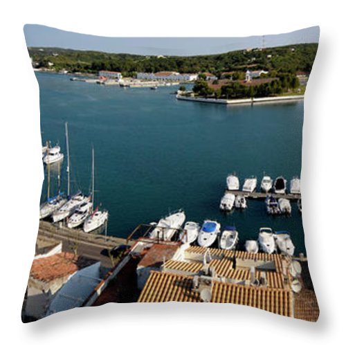 Mao Throw Pillow featuring the photograph Panoramic Town 1 by Pedro Cardona Llambias