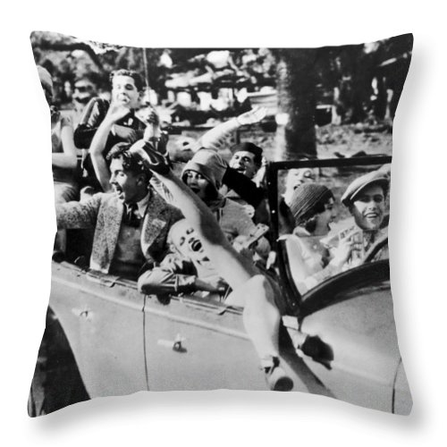 -college Youths- Throw Pillow featuring the photograph Silent Still: College by Granger