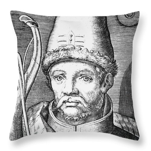 14th Century Throw Pillow featuring the photograph Tamerlane (1336?-1405) by Granger