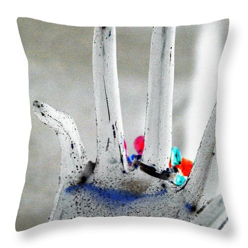 Hand Throw Pillow featuring the photograph The Black Hand In Negative by Rob Hans