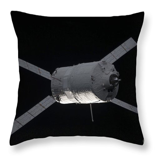 Color Image Throw Pillow featuring the photograph The Edoardo Amaldi Automated Transfer by Stocktrek Images