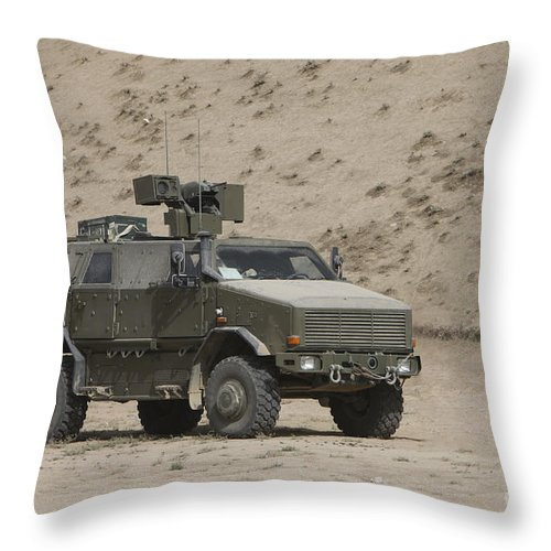 No People Throw Pillow featuring the photograph The German Army Atf Dingo Armored by Terry Moore