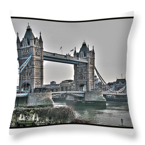 Tower Bridge Throw Pillow featuring the photograph Tower Bridge by Jack Schultz