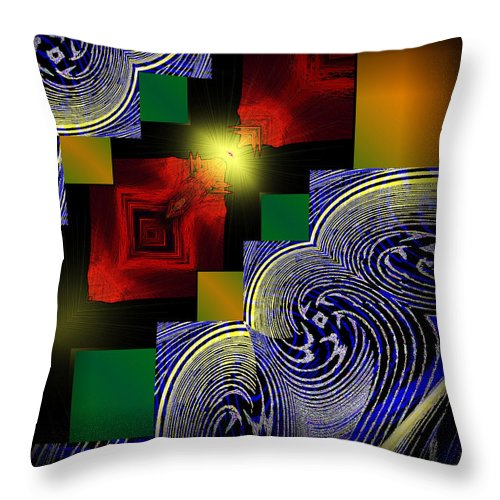 Twin Peaks Throw Pillow featuring the digital art Twin Peaks by Michael Damiani