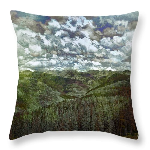 Vale Throw Pillow featuring the photograph Vail Vista by Madeline Ellis
