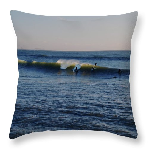 Ocean Throw Pillow featuring the photograph Surfers Make The Ocean Better Series by Teri Schuster