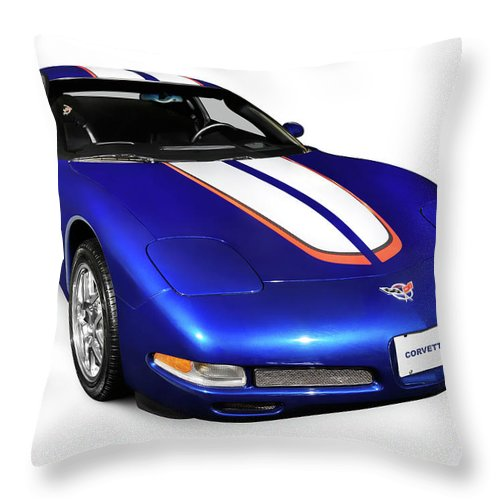 Chevrolet Throw Pillow featuring the photograph 2004 Chevrolet Corvette C5 by Oleksiy Maksymenko