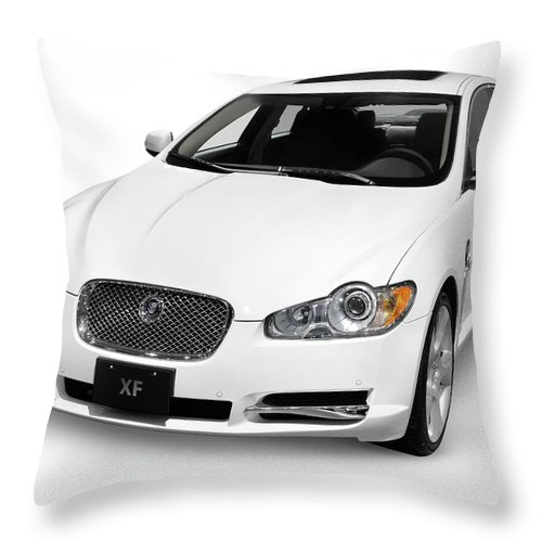 Jaguar Throw Pillow featuring the photograph 2009 Jaguar Xf Luxury Car by Oleksiy Maksymenko