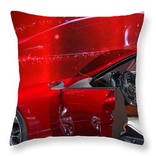 2013 Lexus Lf-lc Throw Pillow featuring the photograph 2013 Lexus L F - L C by Randy J Heath