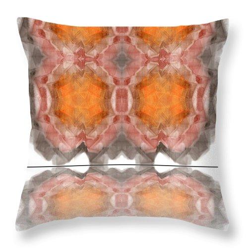 Background Throw Pillow featuring the digital art Fractal by Henrik Lehnerer