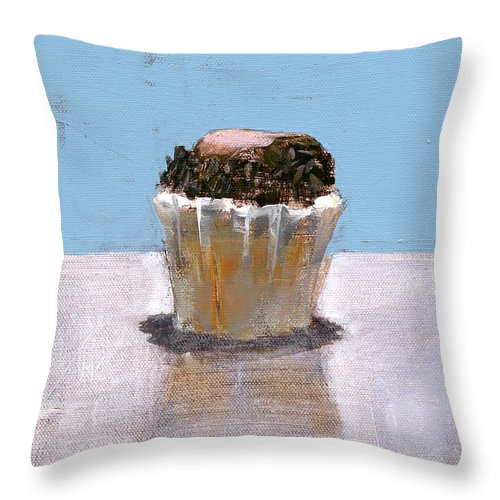 Cupcake Throw Pillow featuring the painting Rcnpaintings.com by Chris N Rohrbach