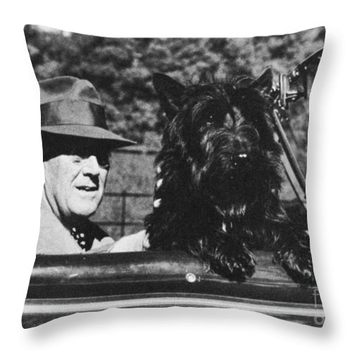 1944 Throw Pillow featuring the photograph Franklin D. Roosevelt by Granger