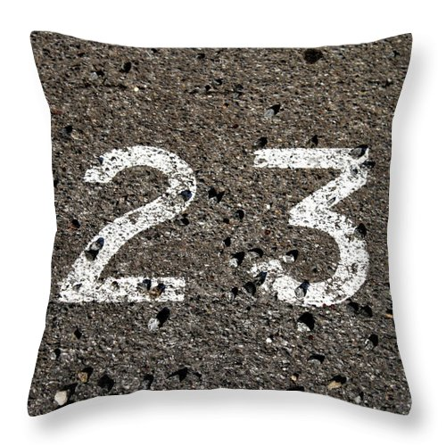 Font Throw Pillow featuring the photograph 23 by Stephen Mitchell