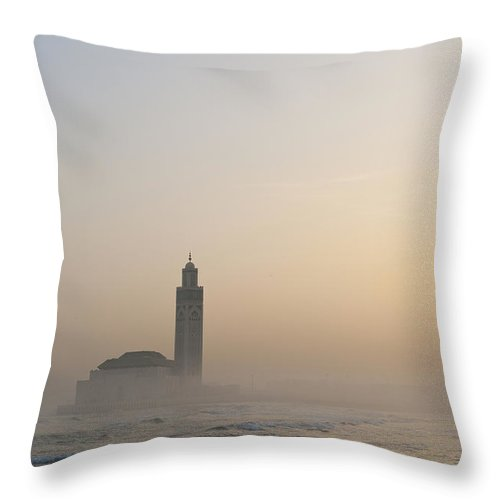 Photography Throw Pillow featuring the photograph Casablanca, Morocco by Axiom Photographic