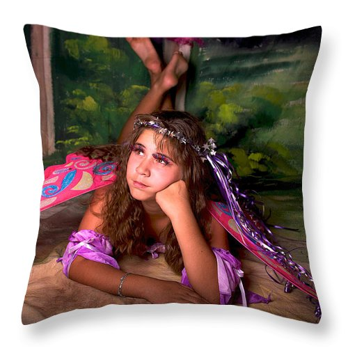 Fairy Throw Pillow featuring the photograph Fairy by Andre Faubert