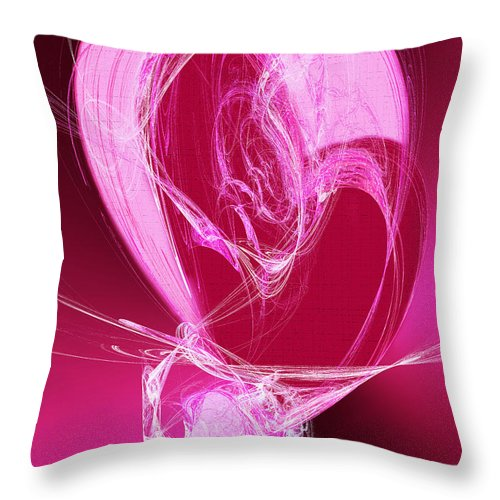 3 Throw Pillow featuring the digital art 3 Hearts by Andee Design