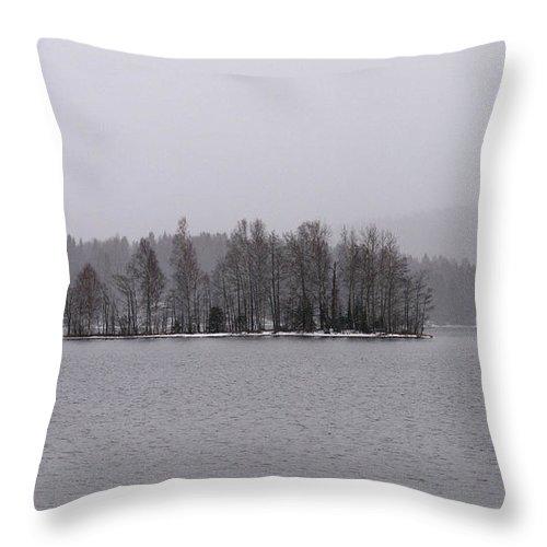 Lehtokukka Throw Pillow featuring the photograph Kulovesi April by Jouko Lehto
