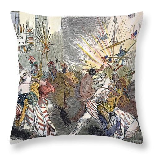 1844 Throw Pillow featuring the photograph Presidential Campaign, 1844 by Granger