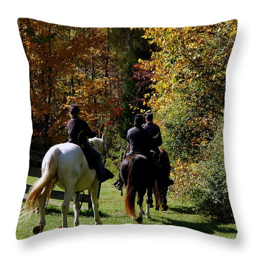 Usa Throw Pillow featuring the photograph Riding Soldiers by LeeAnn McLaneGoetz McLaneGoetzStudioLLCcom