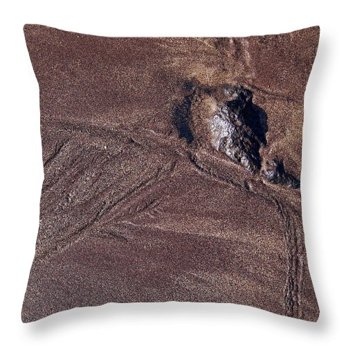 Canary Islands Throw Pillow featuring the photograph Sandmaps by Jouko Lehto