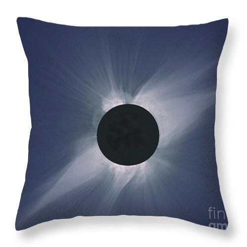 Solar Eclipse Throw Pillow featuring the photograph Solar Eclipse by Nasa