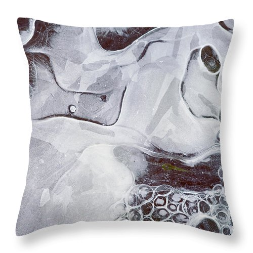 Texture Throw Pillow featuring the photograph Texture Of Ice by Michal Boubin
