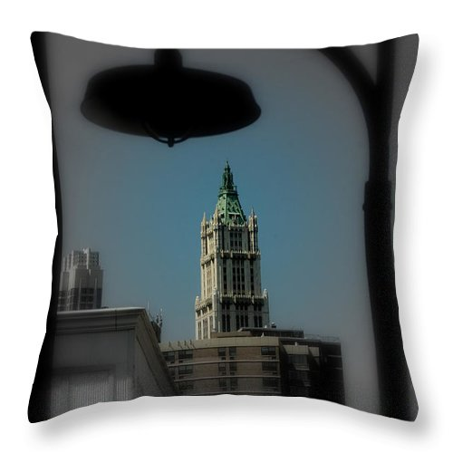 Digital Designs Throw Pillow featuring the photograph Woolworth Building by Mark Gilman