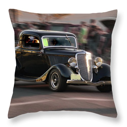 Special Effect Throw Pillow featuring the photograph 34 Rod by Mick Anderson