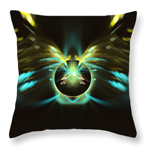 Ball Throw Pillow featuring the digital art Untitled by Adam Vance